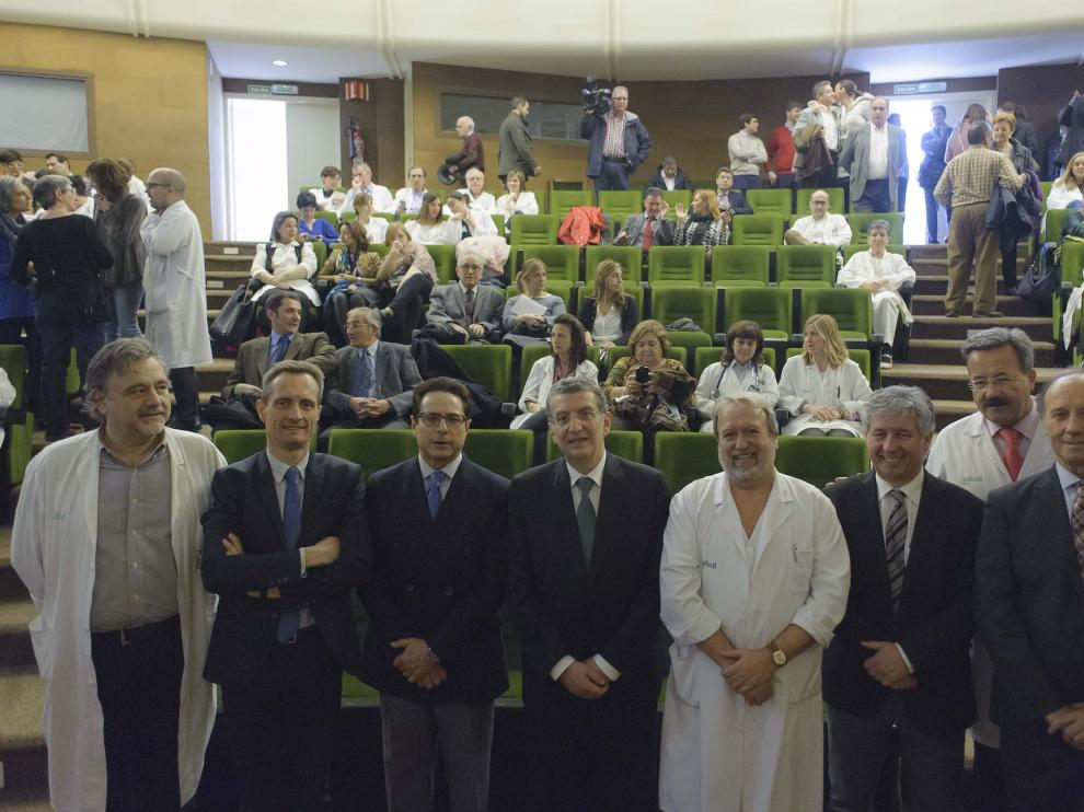 El consejero de Sanidad, Sebastián Celaya, asistió ayer a la celebración del 25 aniversario.
