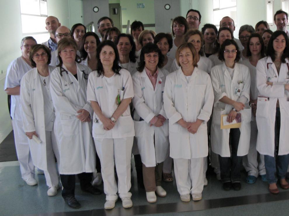 El servicio de Oncología Médica del Hospital Miguel Servet cumple 25 años. En la fotografía, el equipo de la unidad.