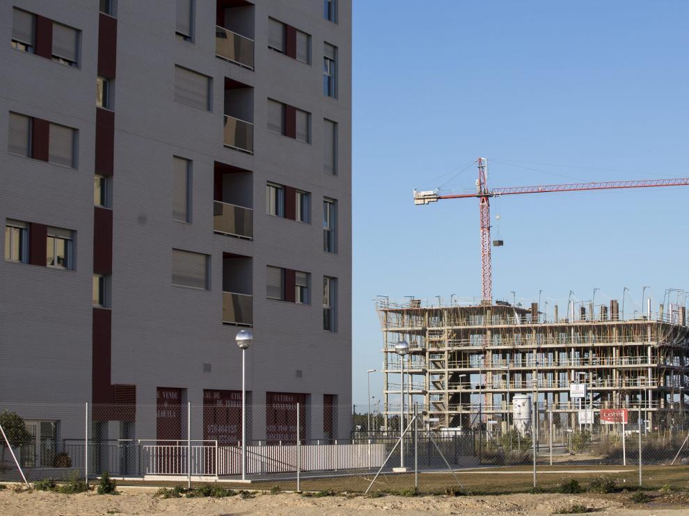 Los constructores ven motivos para levantar vivienda en Zaragoza.