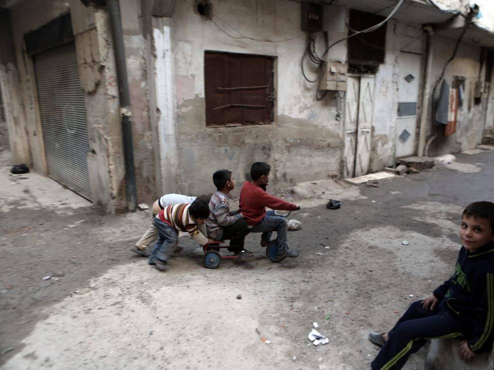Los niños vuelven a la calle en Siria, imagen de archivo.