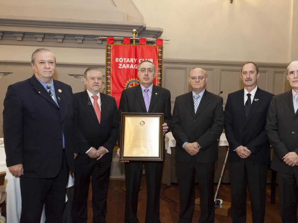 Pedro Corona, Francisco Camo, Jesús Rubio, Antonio Pérez Sánchez, Miguel Ángel Clavero y José Luis Romero.