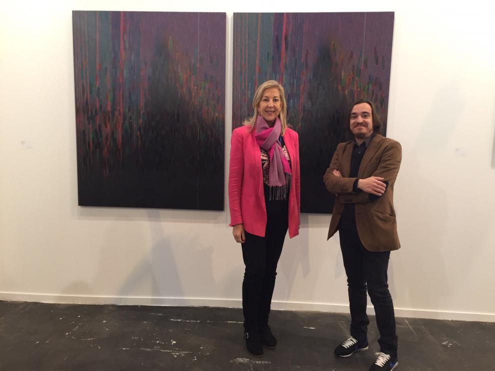 La galerista Cristina Marín y Nacho Escuín