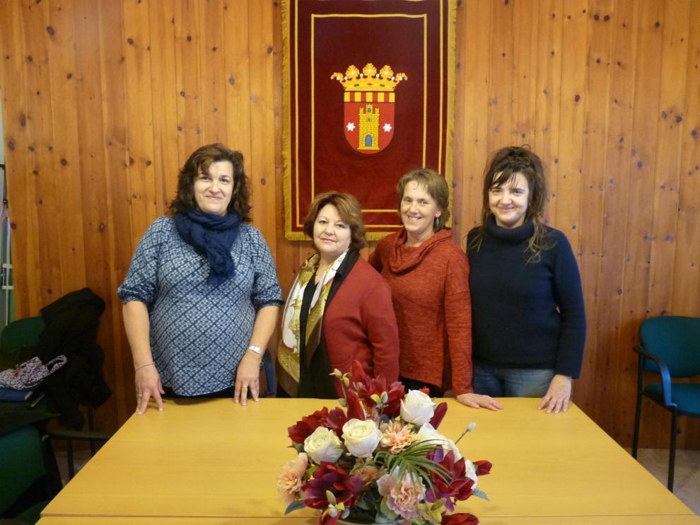 En el Ayuntamiento de Salvatierra de Esca todas las concejalas son mujeres.