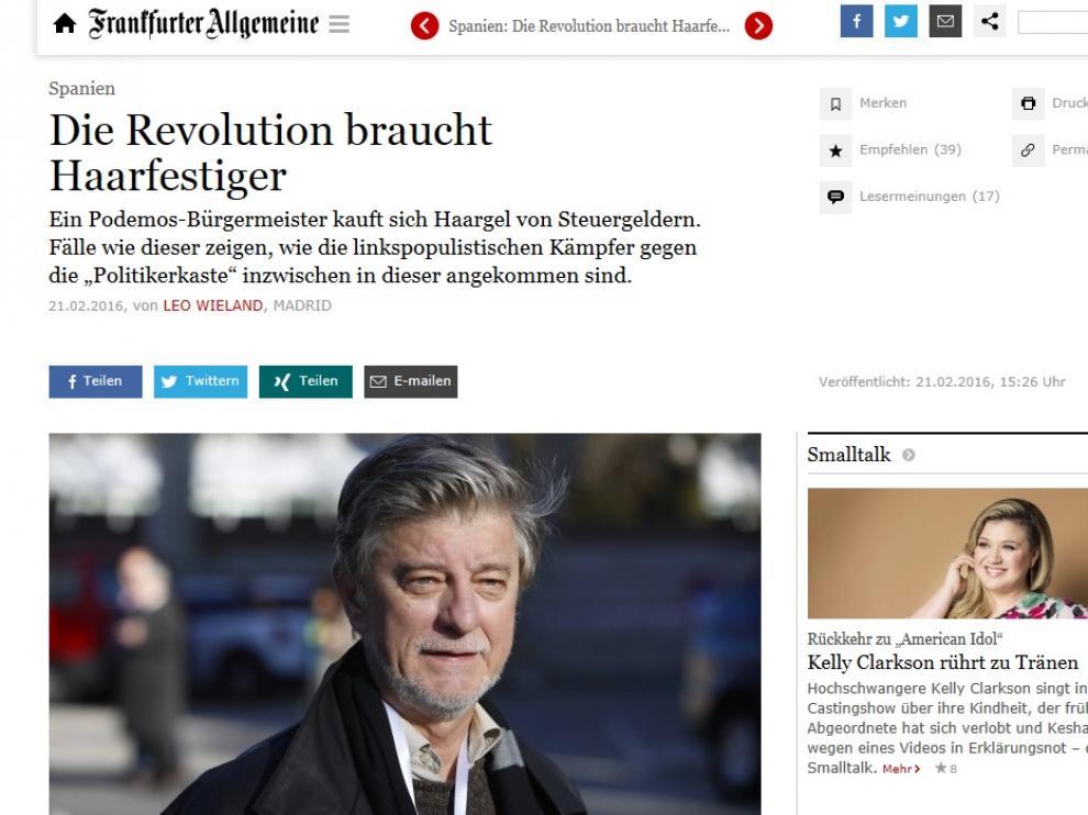 Hasta la página web de un diario alemán se hizo eco de la gomina de Santisteve.