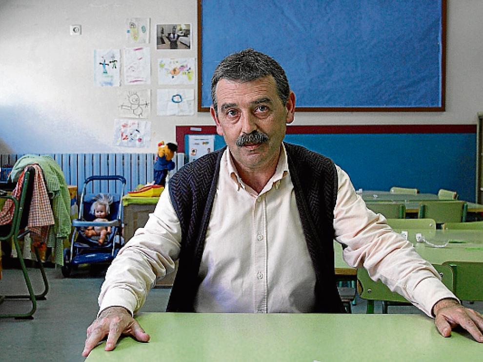 Vicente, en un aula del CP Zalfonada