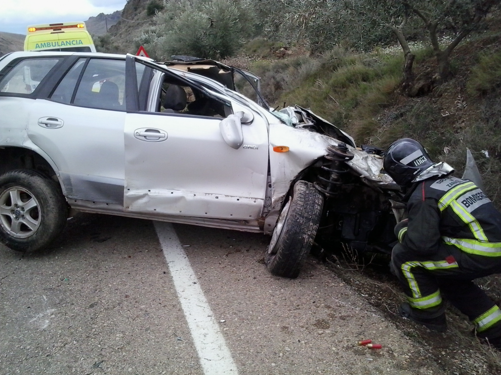 Accidente en la comarca del Aranda