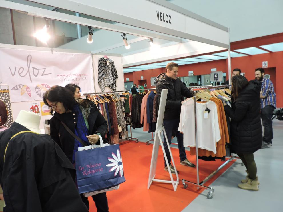 Satisfacción entre los comercios participantes en la Feria de Stocks de Huesca