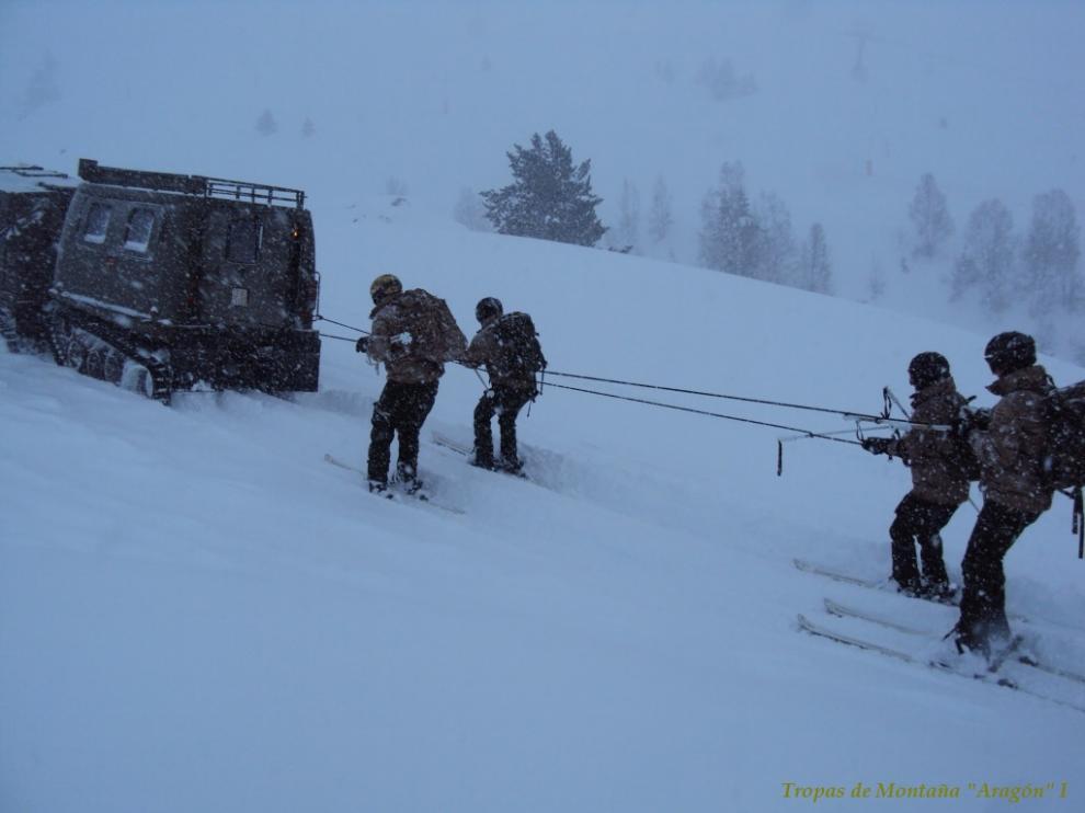 Soldados de las tropas de montaña de Jaca