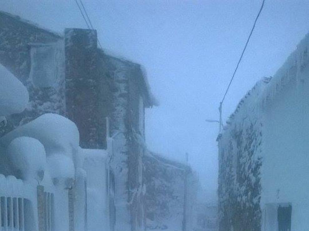 Temporal de nieve y lluvia en Aragón