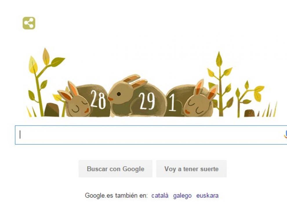 Google dedica su doodle a 2016, año bisiesto