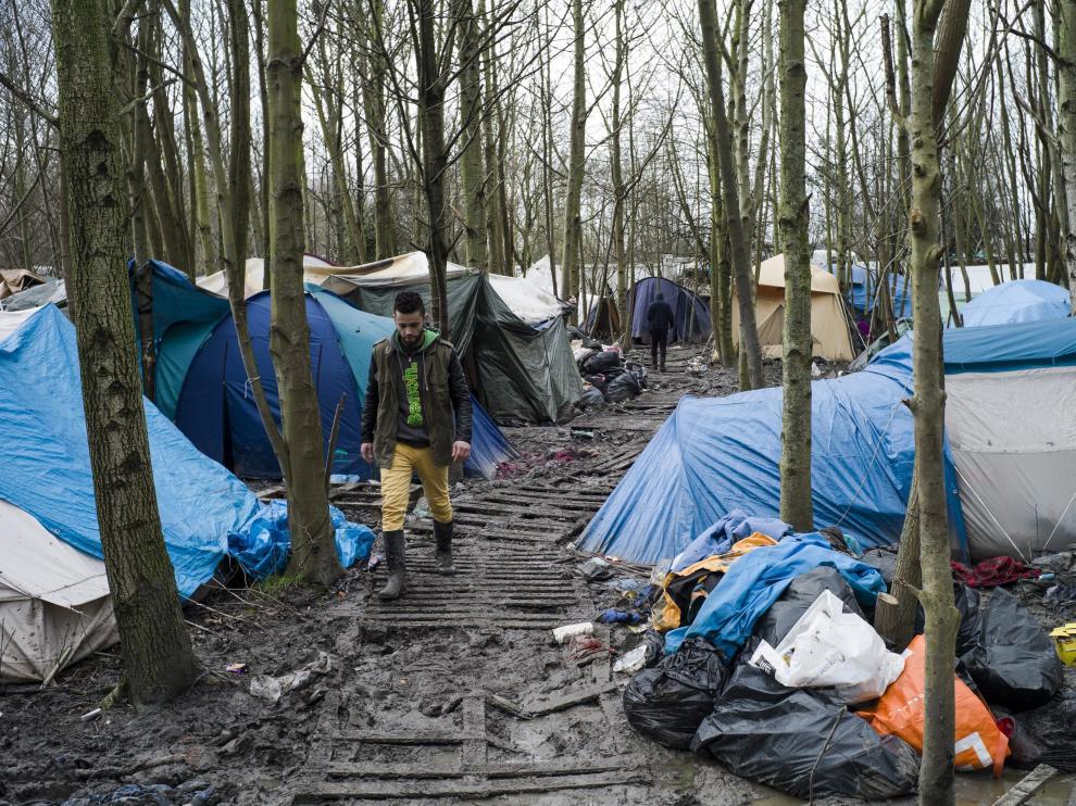 Refugio de Calais, imagen de archivo.