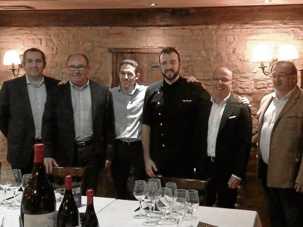 Alberto Cisterna, Mariano Bayarte, José Fontanellas, Iván Puyuelo, Pedro Tabuenca y Carlos Melero.