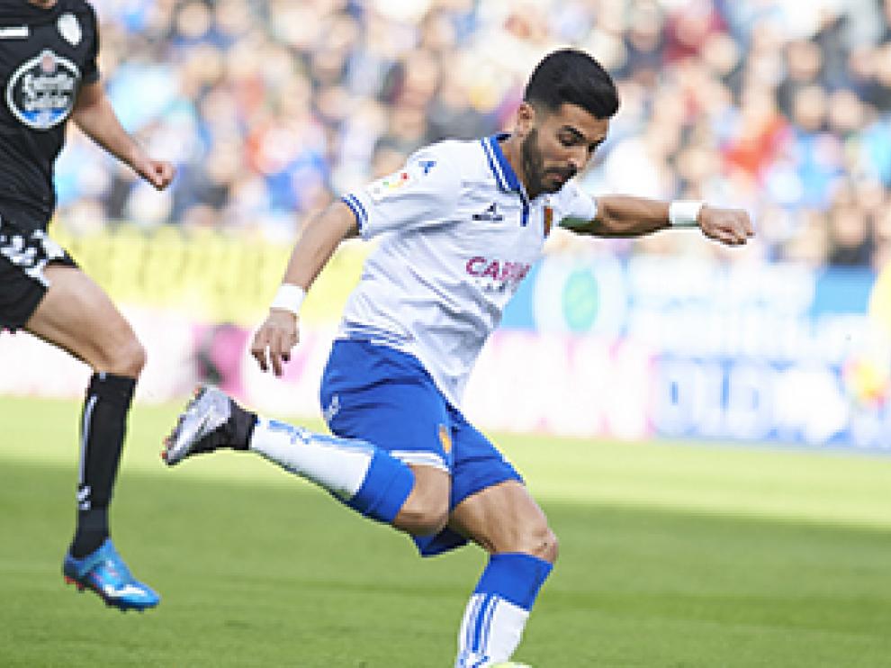 Ángel brilló en el choque ante el Lugo