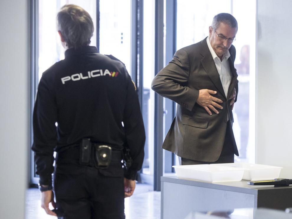 Ricardo García Becerril en la Ciudad de la Justicia en una imagen de archivo.