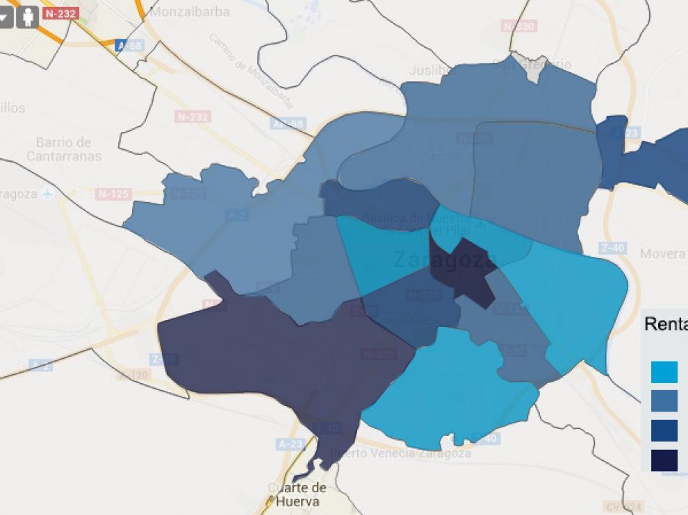 Mapa De Malaga Capital Por Barrios.La Riqueza Va Por Barrios Las Rentas De Las Zonas Mas Ricas