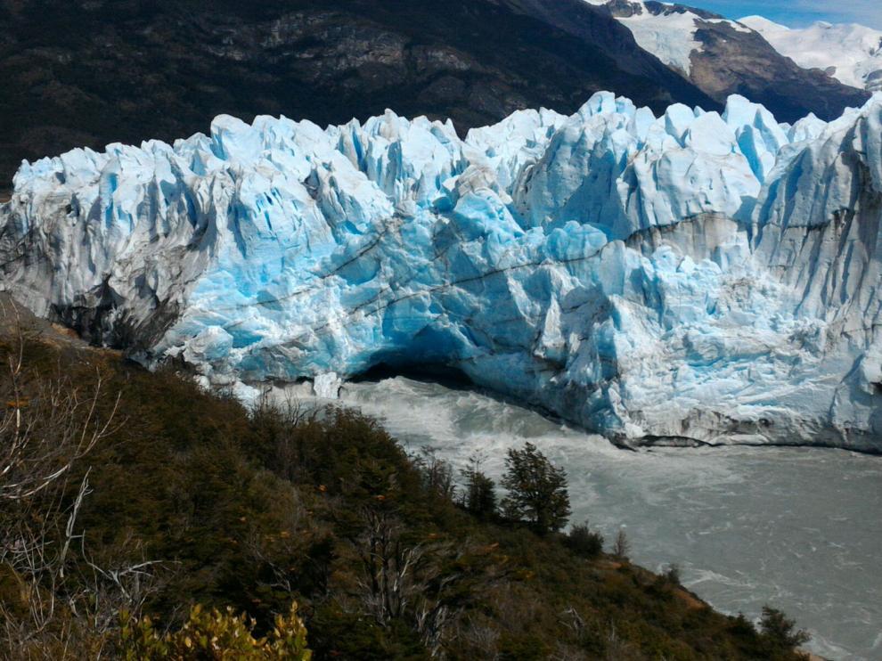 El glaciar Perito Moreno, en Argentina.