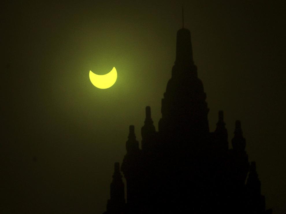 Imagen del único eclipse total de sol de 2016