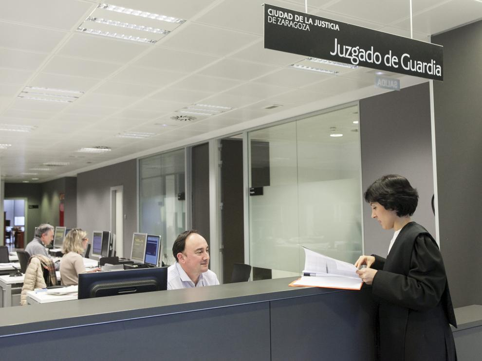 Los juzgados de la Ciudad de la Justicia, en Zaragoza.