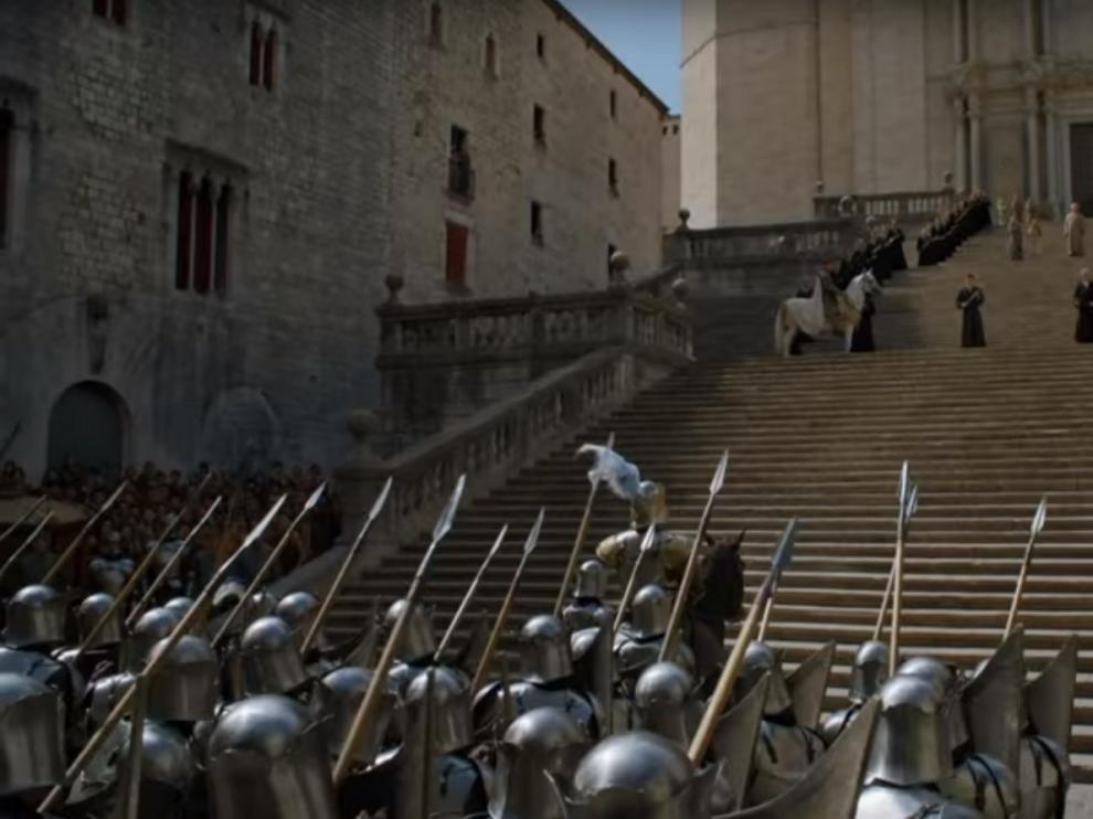 La catedral de Gerona, en 'Juego de Tronos', en el tráiler de la nueva temporada.