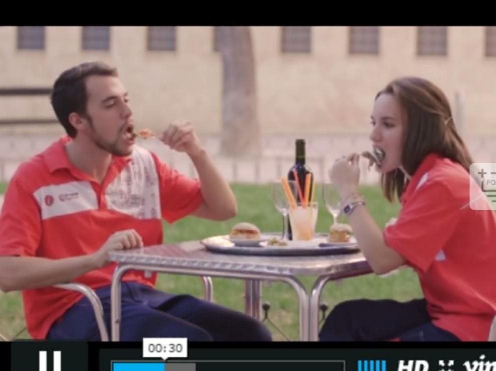 Fotograma del vídeo sobre informadores turísticos de Zaragoza