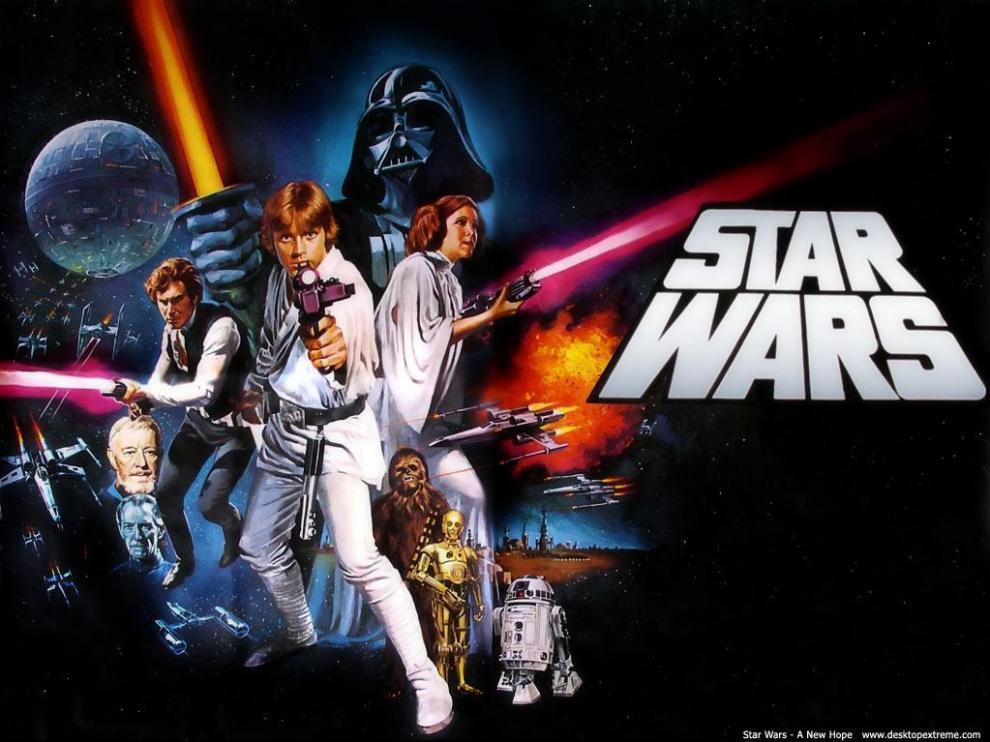 Cartel anunciador del estreno de 'Stas Wars. Una nueva esperanza'.