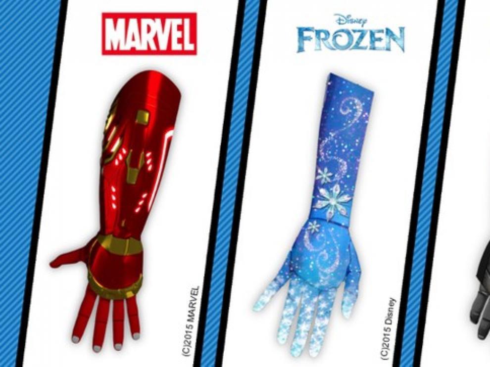 Prótesis basadas en superhéroes y princesas.