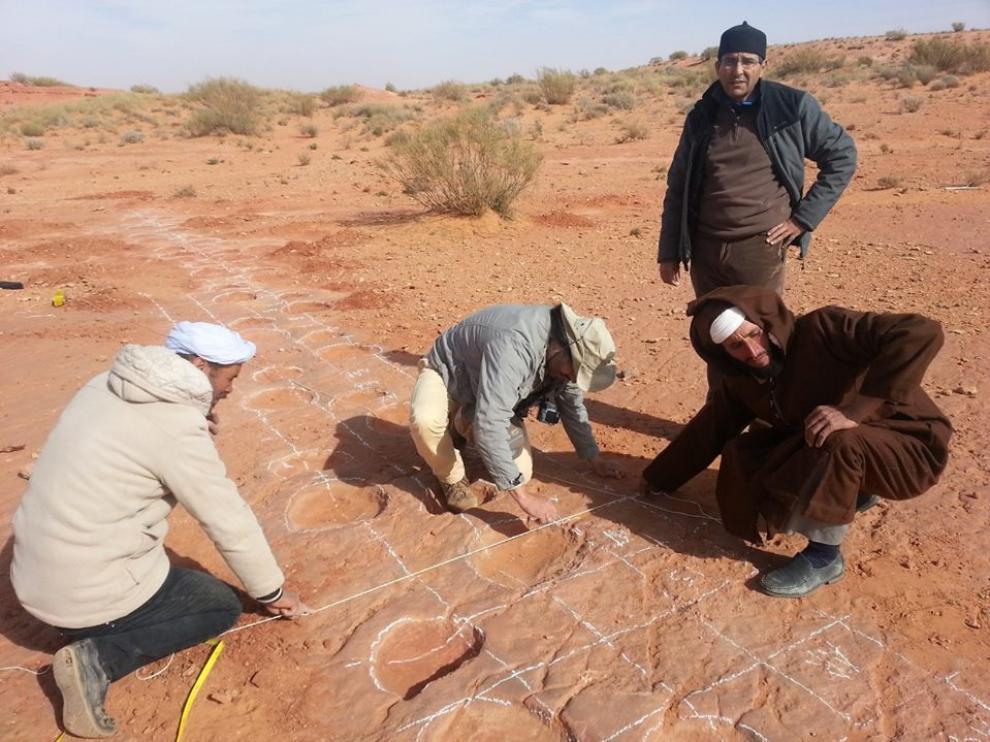 Afloramientos de icnitas en Marruecos.