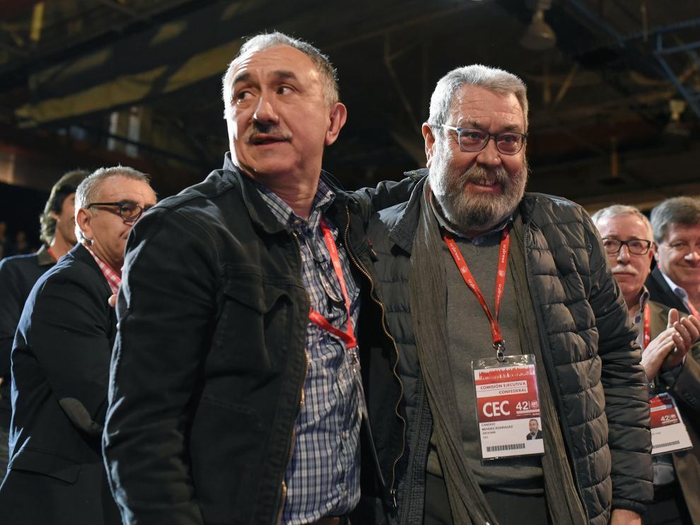 Josep María Álvarez y Cándido Méndez