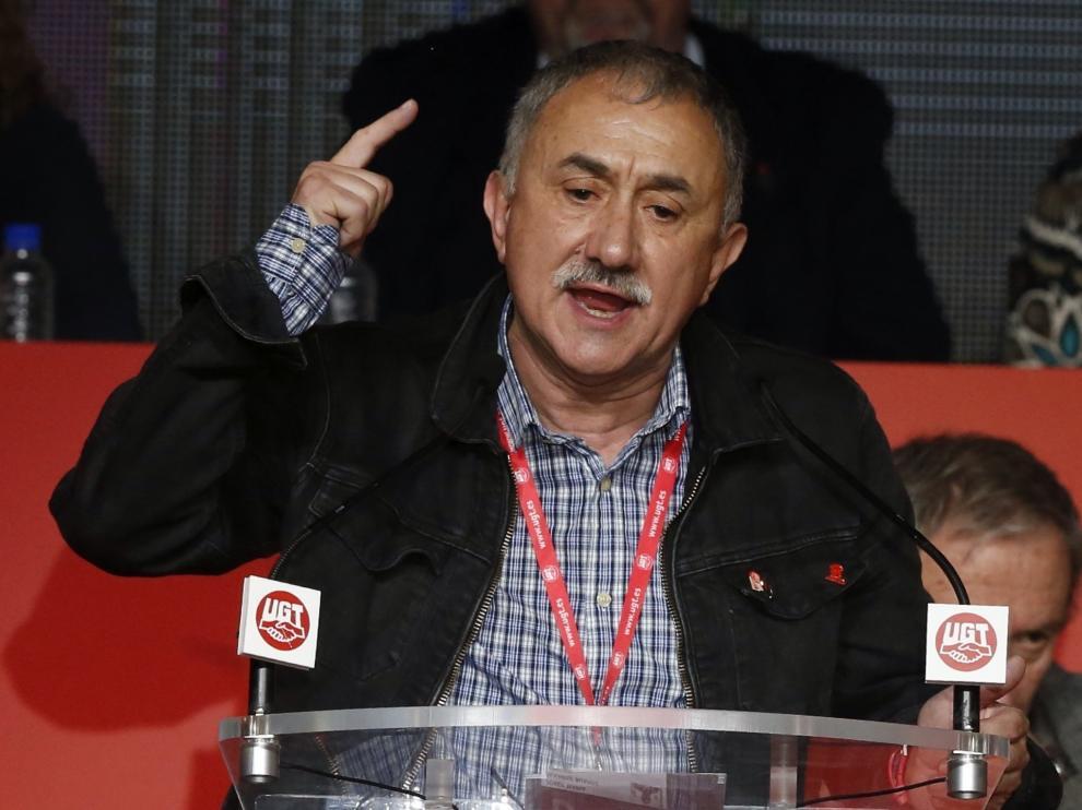 Álvarez en el congreso de UGT, tras ser elegido secretario general.