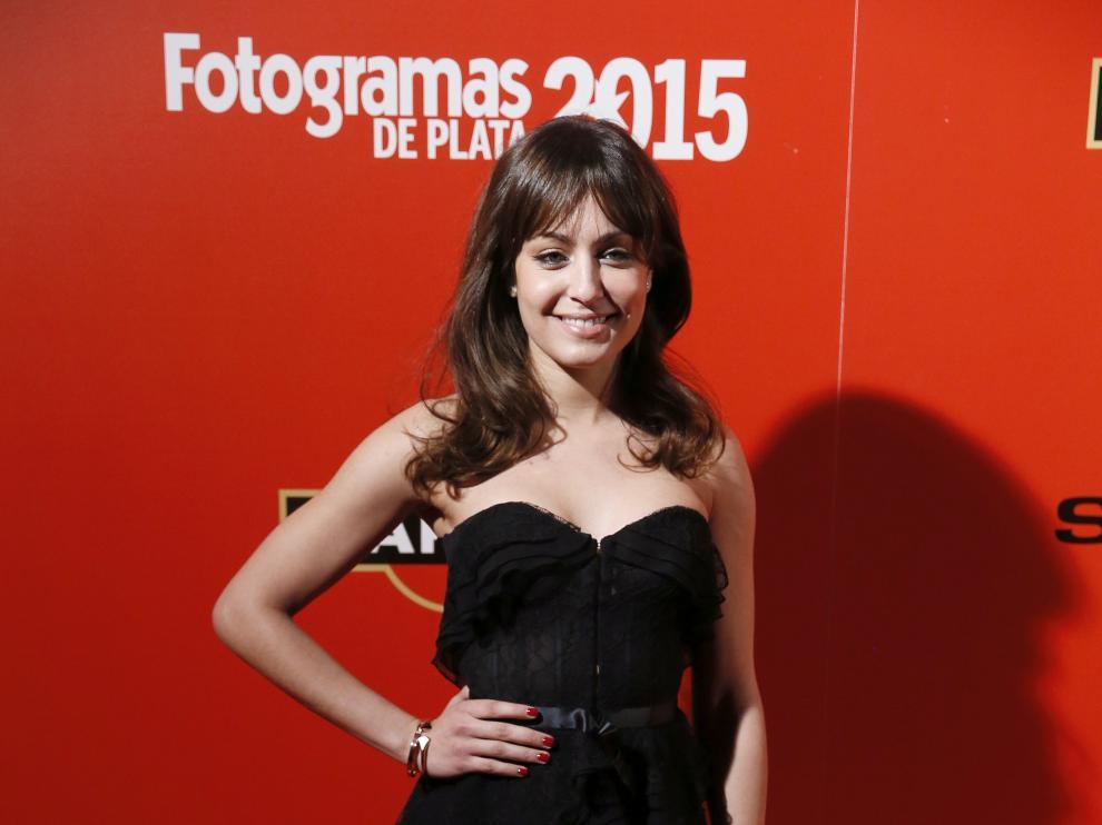Hiba Abouk, la actriz que denunció los hechos, en los premios Fotograma de Plata 2015.