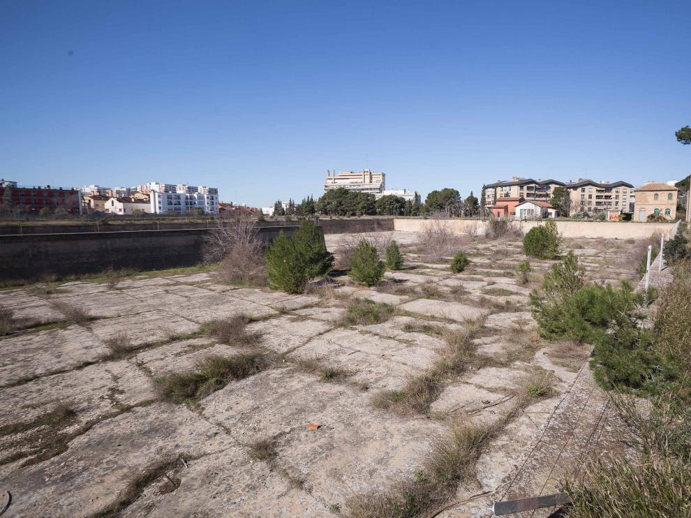 Antiguos depósitos de agua del parque Pignatelli