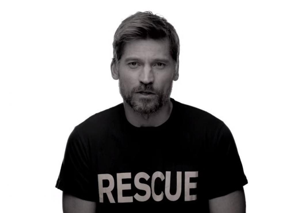 El actor de 'Juego de Tronos Nikolaj Coster-Waldau (Jaime Lannister) participa en la campaña