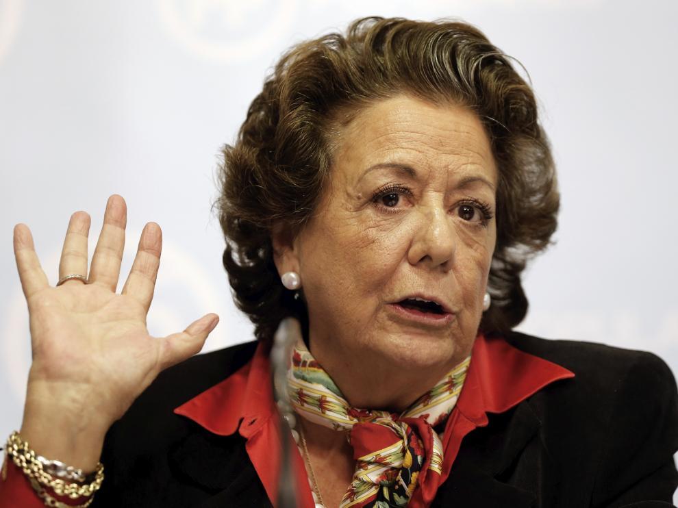 La exalcaldesa de Valencia, Rita Barberá.