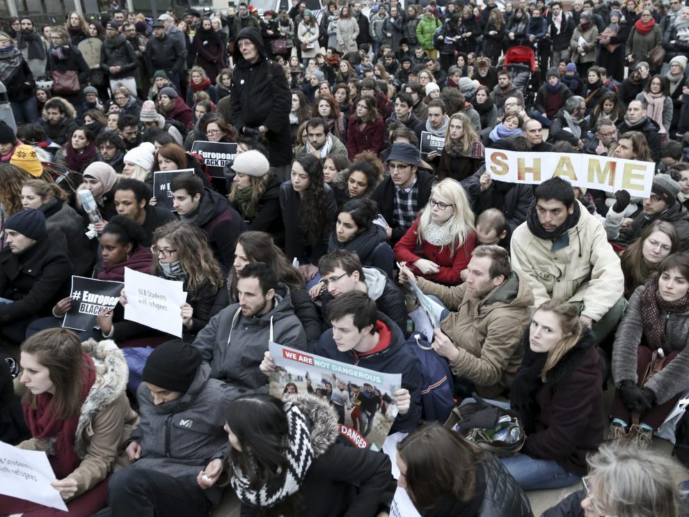 Imagen de archivo de una manifestación en Bélgica contra el acuerdo UE-Turquía.