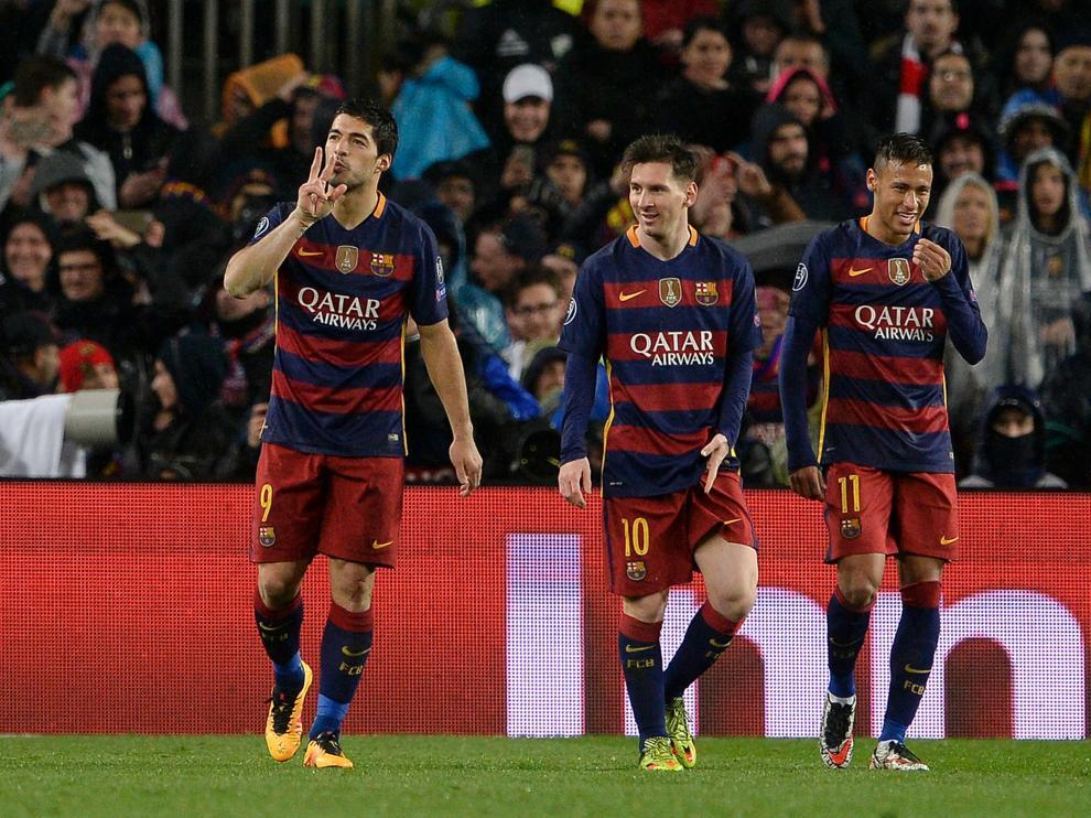 Messi, Neymar y Suarez cerraron la eliminatoria y lograron clasificar al barça para cuartos.