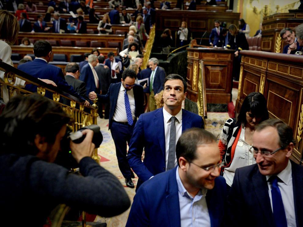Pedro Sánchez a la salida del primer pleno ordinario del Congreso de la legislatura