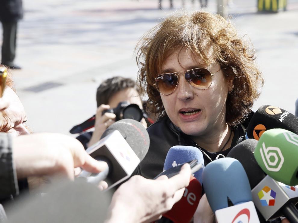 Teresa Romero a su llegada los juzgados de Plaza Castilla de Madrid.