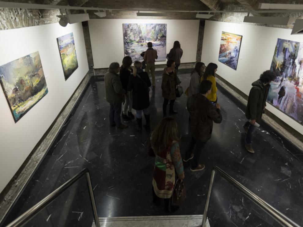 La jornada inaugural estuvo muy animada con la presencia de muchos alumnos del pintor.