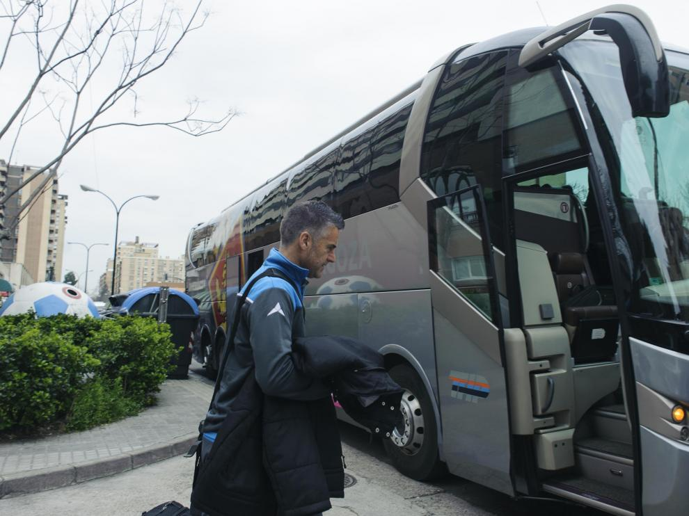 El Zaragoza parte hacia Tenerife