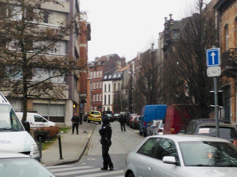 La operación se desarrolla en el barrio de Molenbeek.