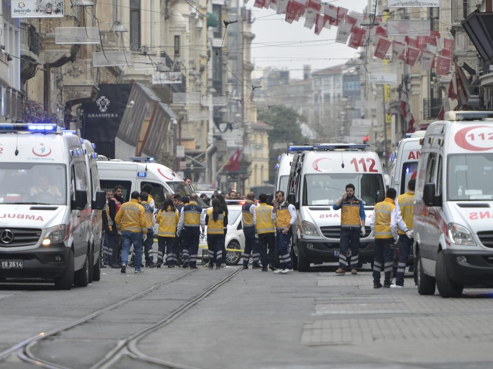 Calle Istiklal de Estambul, donde se ha producido el atentado suicida.