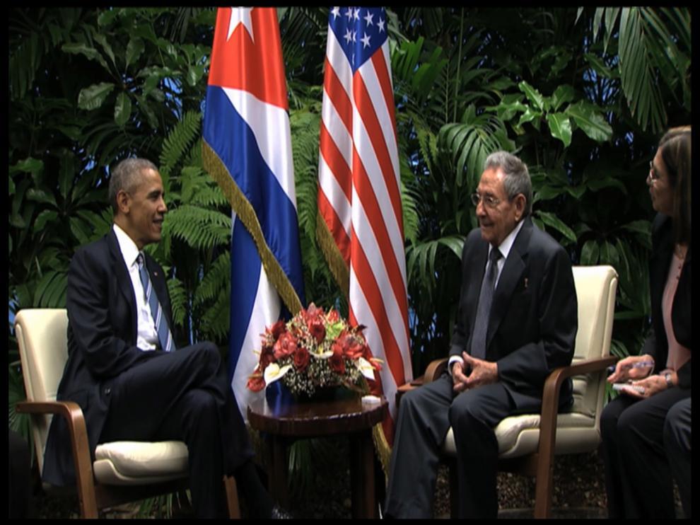 Reunión entre Castro y Obama