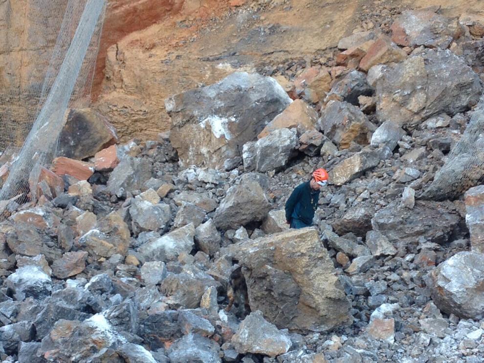 Desprendimiento de rocas en Monrepós