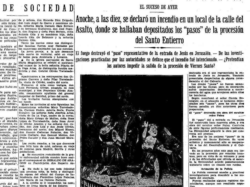 Página de HERALDO con la noticia