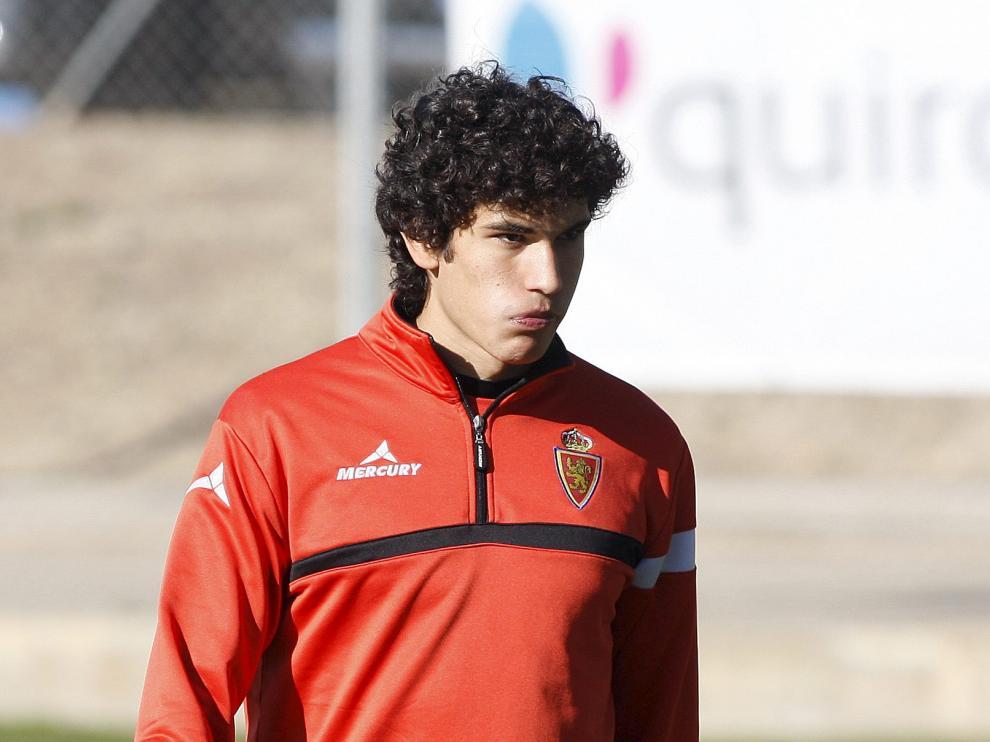 Jesús Vallejo, en la Ciudad Deportiva.