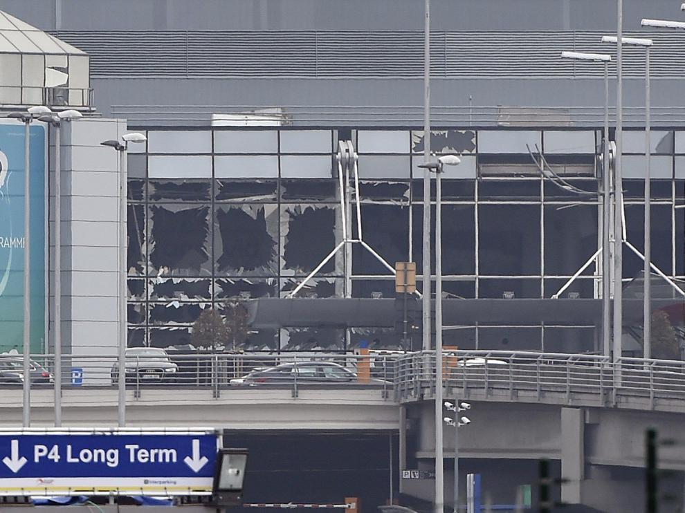 Daños en el aeropuerto de Bruselas