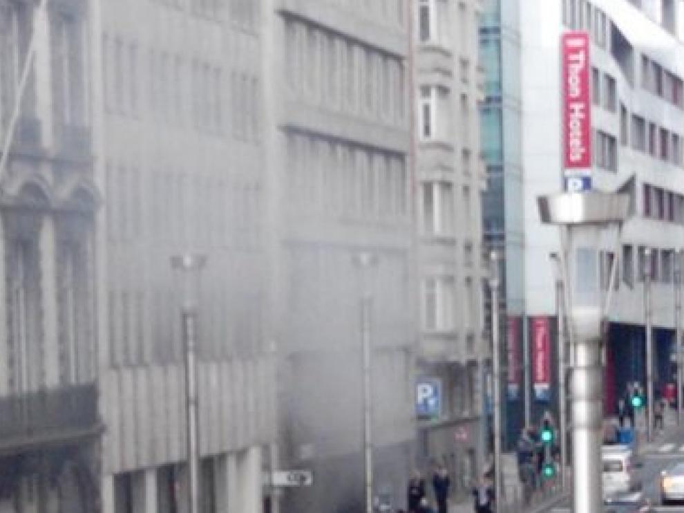 Explosión en la estación de metro de Maelbeek