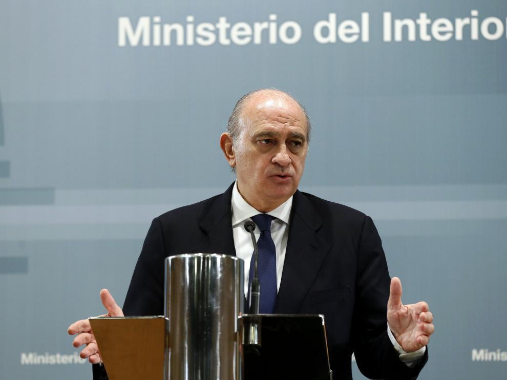 El ministro del Interior español en funciones, Jorge Fernández Díaz.
