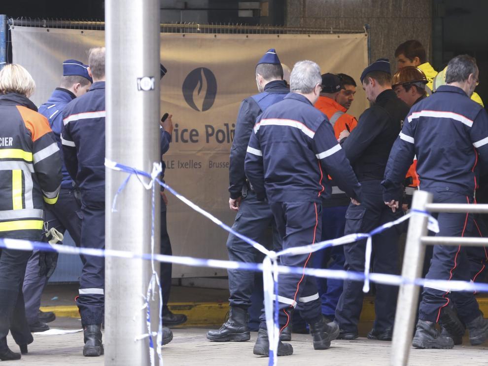 El metro de Bruselas pocos días después del atentado.