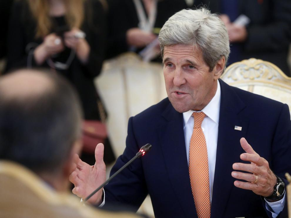John Kerry, este jueves en Moscú